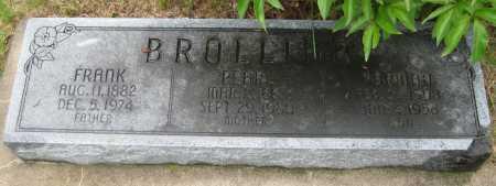 BROLLIAR, PEARL - Saline County, Nebraska   PEARL BROLLIAR - Nebraska Gravestone Photos