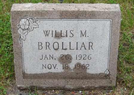 BROLLIAR, WILLIS M. - Saline County, Nebraska   WILLIS M. BROLLIAR - Nebraska Gravestone Photos