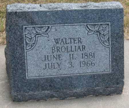 BROLLIAR, WALTER - Saline County, Nebraska | WALTER BROLLIAR - Nebraska Gravestone Photos