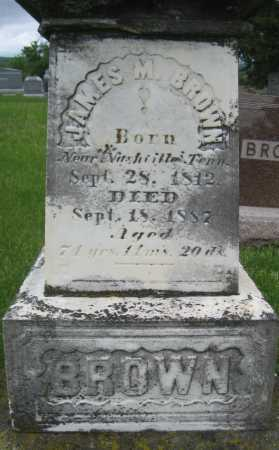 BROWN, JAMES M. - Saline County, Nebraska | JAMES M. BROWN - Nebraska Gravestone Photos