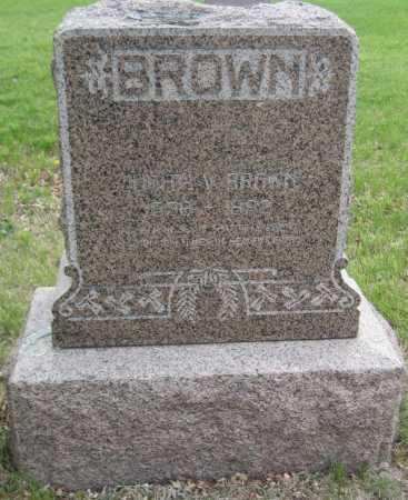 BROWN, JUDITH - Saline County, Nebraska | JUDITH BROWN - Nebraska Gravestone Photos