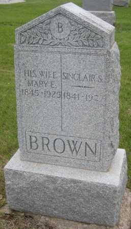 BROWN, SINCLAIR S. - Saline County, Nebraska | SINCLAIR S. BROWN - Nebraska Gravestone Photos