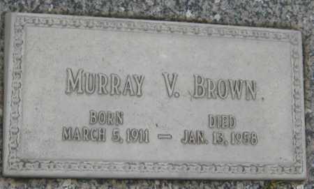 BROWN, MURRAY VANCE - Saline County, Nebraska   MURRAY VANCE BROWN - Nebraska Gravestone Photos