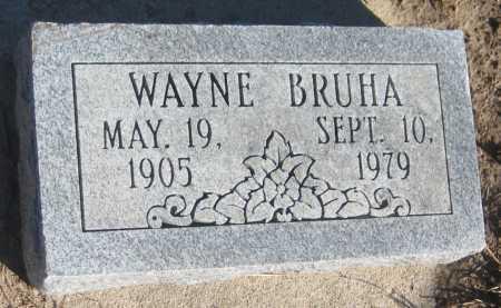 BRUHA, WAYNE - Saline County, Nebraska | WAYNE BRUHA - Nebraska Gravestone Photos