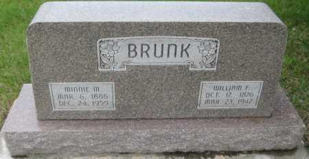 BRUNK, WILLIAM F. - Saline County, Nebraska | WILLIAM F. BRUNK - Nebraska Gravestone Photos