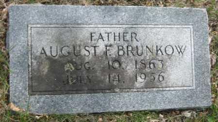BRUNKOW, AUGUST F. - Saline County, Nebraska | AUGUST F. BRUNKOW - Nebraska Gravestone Photos
