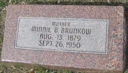 BRUNKOW, MINNIE B. - Saline County, Nebraska | MINNIE B. BRUNKOW - Nebraska Gravestone Photos