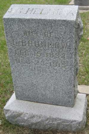BRUNKOW, WILHELMINA - Saline County, Nebraska | WILHELMINA BRUNKOW - Nebraska Gravestone Photos