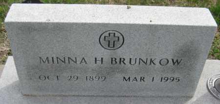 "BRUNKOW, WILHELMINA ""MINNA"" H. - Saline County, Nebraska   WILHELMINA ""MINNA"" H. BRUNKOW - Nebraska Gravestone Photos"