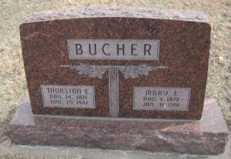 BUCHER, THURSTON E. - Saline County, Nebraska | THURSTON E. BUCHER - Nebraska Gravestone Photos