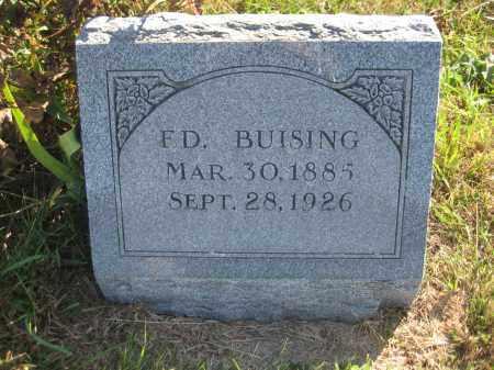 BUISING, FD - Saline County, Nebraska | FD BUISING - Nebraska Gravestone Photos