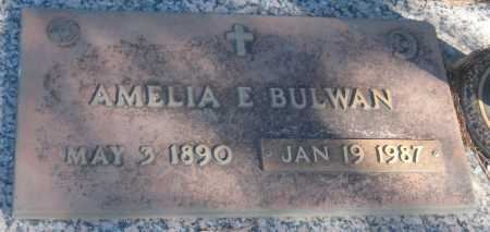 BULWAN, AMELIA E. - Saline County, Nebraska | AMELIA E. BULWAN - Nebraska Gravestone Photos