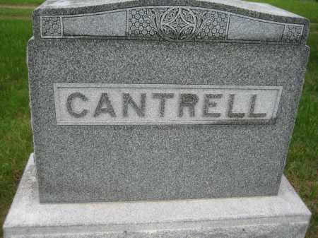 CANTRELL, FAMILY STONE - Saline County, Nebraska   FAMILY STONE CANTRELL - Nebraska Gravestone Photos