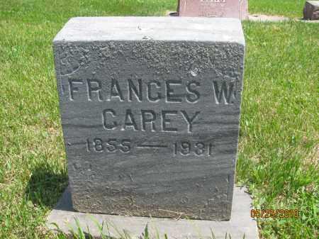 CAREY, FRANCES W. - Saline County, Nebraska   FRANCES W. CAREY - Nebraska Gravestone Photos