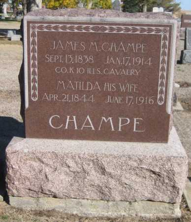 CHAMPE, MATILDA - Saline County, Nebraska | MATILDA CHAMPE - Nebraska Gravestone Photos