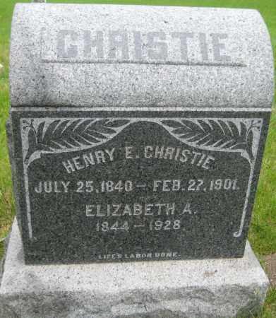 CHRISTIE, ELIZABETH - Saline County, Nebraska | ELIZABETH CHRISTIE - Nebraska Gravestone Photos