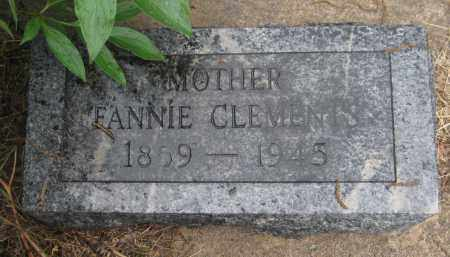 CLEMENTS, FANNIE - Saline County, Nebraska | FANNIE CLEMENTS - Nebraska Gravestone Photos