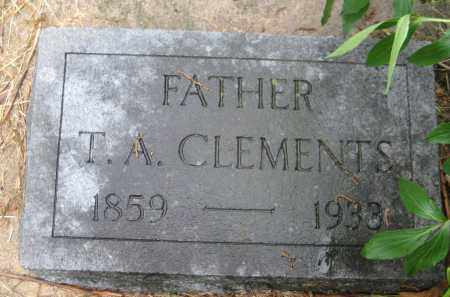 CLEMENTS, T. A. - Saline County, Nebraska   T. A. CLEMENTS - Nebraska Gravestone Photos