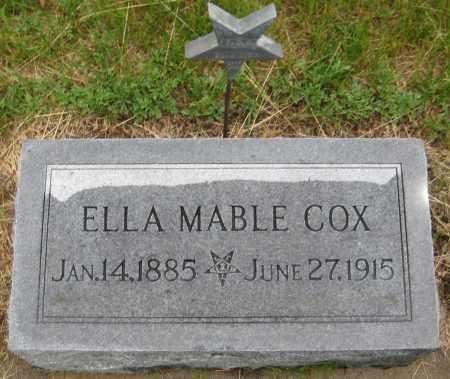 COX, ELLA MABLE - Saline County, Nebraska | ELLA MABLE COX - Nebraska Gravestone Photos