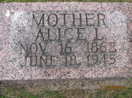 CRICK, ALICE L. - Saline County, Nebraska   ALICE L. CRICK - Nebraska Gravestone Photos