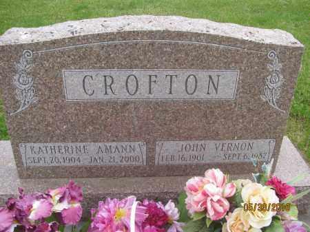 CROFTON, KATHERINE AMANN - Saline County, Nebraska | KATHERINE AMANN CROFTON - Nebraska Gravestone Photos