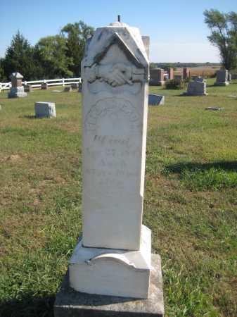 CROM, ELIJAH - Saline County, Nebraska | ELIJAH CROM - Nebraska Gravestone Photos