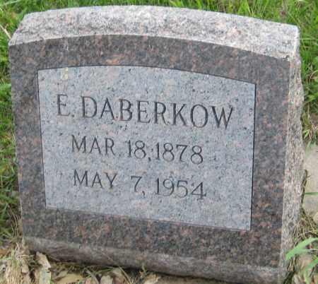 DABERKOW, E. - Saline County, Nebraska | E. DABERKOW - Nebraska Gravestone Photos