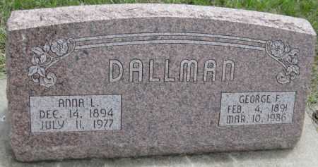 DALLMAN, GEORGE F. - Saline County, Nebraska   GEORGE F. DALLMAN - Nebraska Gravestone Photos