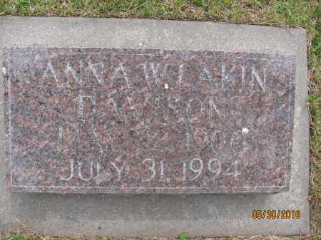 DAVISON, ANNA W. - Saline County, Nebraska   ANNA W. DAVISON - Nebraska Gravestone Photos