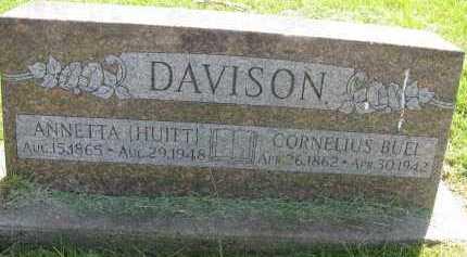 DAVISON, ANNETTA W. - Saline County, Nebraska | ANNETTA W. DAVISON - Nebraska Gravestone Photos