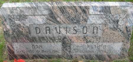 DAVISON, ODA ALVIN - Saline County, Nebraska   ODA ALVIN DAVISON - Nebraska Gravestone Photos