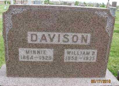 DAVISON, WILLIAM B. - Saline County, Nebraska   WILLIAM B. DAVISON - Nebraska Gravestone Photos