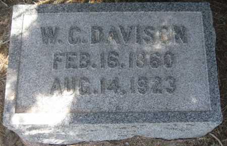 DAVISON, W. C. - Saline County, Nebraska | W. C. DAVISON - Nebraska Gravestone Photos