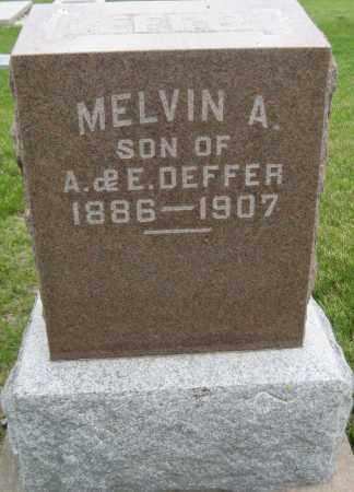 DEFFER, MELVIN A. - Saline County, Nebraska | MELVIN A. DEFFER - Nebraska Gravestone Photos