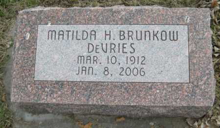 DEVRIES, MATILDA H. - Saline County, Nebraska | MATILDA H. DEVRIES - Nebraska Gravestone Photos