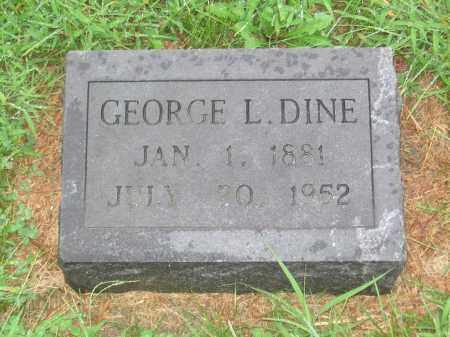 DINE, GEORGE L. - Saline County, Nebraska | GEORGE L. DINE - Nebraska Gravestone Photos