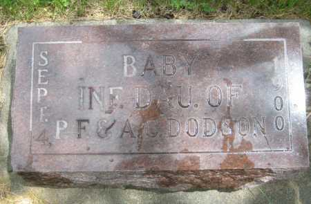 DODSON, INFANT BABY DAUGHTER - Saline County, Nebraska | INFANT BABY DAUGHTER DODSON - Nebraska Gravestone Photos