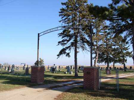 *DORCHESTER CEMETERY, ENTRANCE - Saline County, Nebraska | ENTRANCE *DORCHESTER CEMETERY - Nebraska Gravestone Photos
