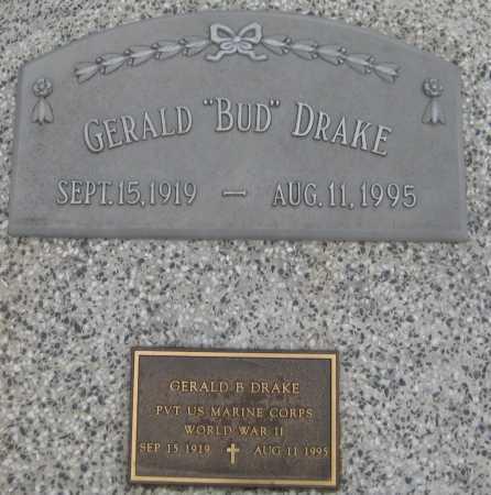 """DRAKE, GERALD """"BUD"""" - Saline County, Nebraska   GERALD """"BUD"""" DRAKE - Nebraska Gravestone Photos"""