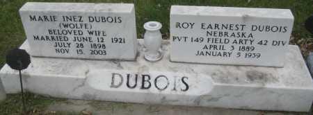 DUBOIS, ROY EARNEST - Saline County, Nebraska | ROY EARNEST DUBOIS - Nebraska Gravestone Photos