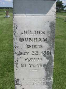 DUNHAM, JULIUS - Saline County, Nebraska | JULIUS DUNHAM - Nebraska Gravestone Photos