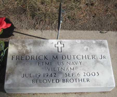 DUTCHER, FREDRICK M. JR. - Saline County, Nebraska | FREDRICK M. JR. DUTCHER - Nebraska Gravestone Photos