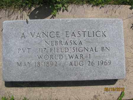 EASTLICK, ACY VANCE - Saline County, Nebraska | ACY VANCE EASTLICK - Nebraska Gravestone Photos