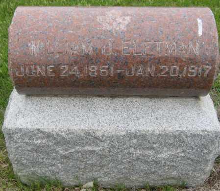 ELFTMAN, WILLIAM J. - Saline County, Nebraska | WILLIAM J. ELFTMAN - Nebraska Gravestone Photos