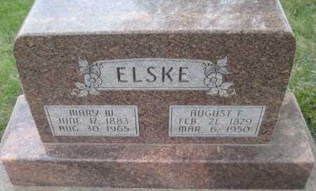 ELSKE, AUGUST F. - Saline County, Nebraska | AUGUST F. ELSKE - Nebraska Gravestone Photos