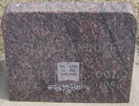 ENDORF, GERALD - Saline County, Nebraska | GERALD ENDORF - Nebraska Gravestone Photos