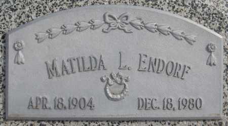 ENDORF, MATILDA L. - Saline County, Nebraska | MATILDA L. ENDORF - Nebraska Gravestone Photos