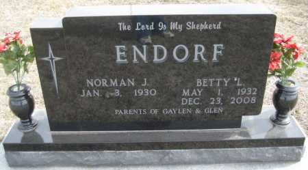 ENDORF, BETTY L. - Saline County, Nebraska | BETTY L. ENDORF - Nebraska Gravestone Photos