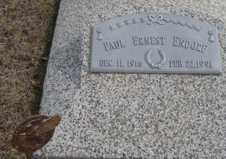 ENDORF, PAUL ERNEST - Saline County, Nebraska | PAUL ERNEST ENDORF - Nebraska Gravestone Photos