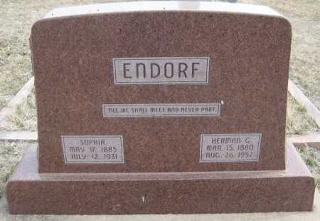 ENDORF, HERMAN GEORGE - Saline County, Nebraska | HERMAN GEORGE ENDORF - Nebraska Gravestone Photos